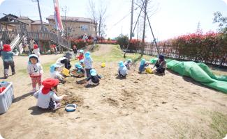 園庭 砂場